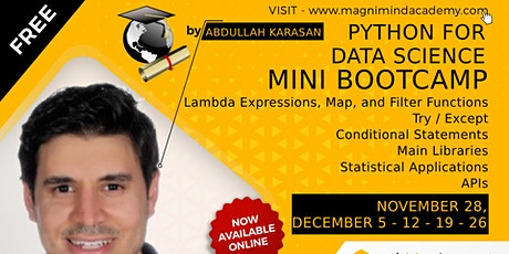 Free - Online - Live 10 Hours Python for Data Science Bootcamp tickets