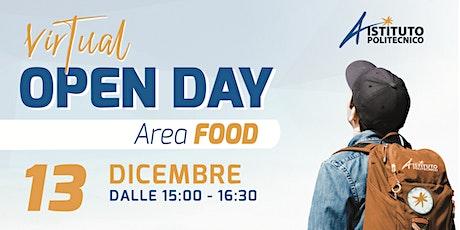 VIRTUAL OPEN DAY 2021 ISTITUTO POLITECNICO - AREA FOOD biglietti