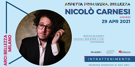 Nicolò Carnesi tickets
