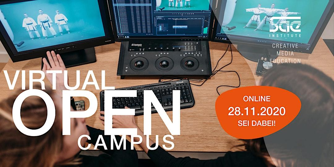 VIRTUAL OPEN CAMPUS #Film #GameArt #VFX - SAE Institute München