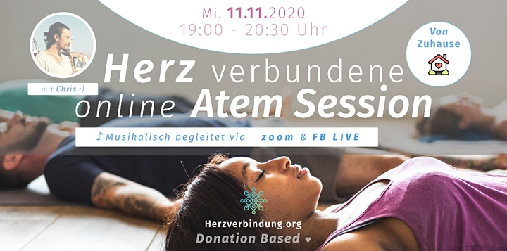 Herzverbundene Atemreise (zoom Live) (Donation Based) image