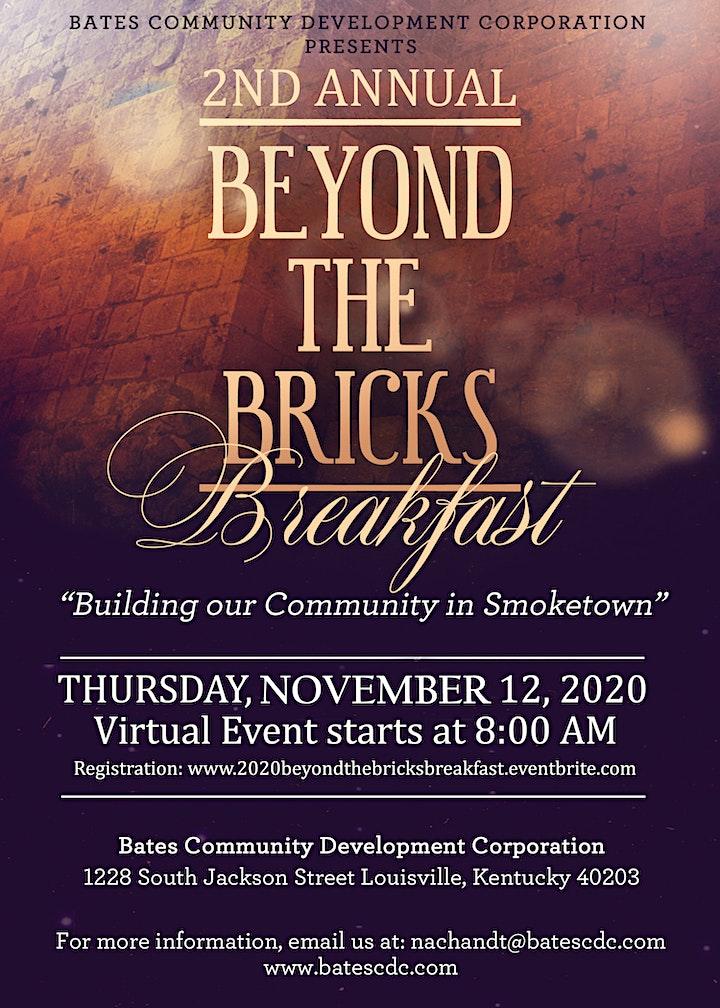 Bates CDC Presents: 2020 Beyond the Bricks Virtual Fundraising Breakfast image