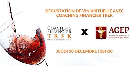 Dégustation de vins avec Coaching Financier TREK billets