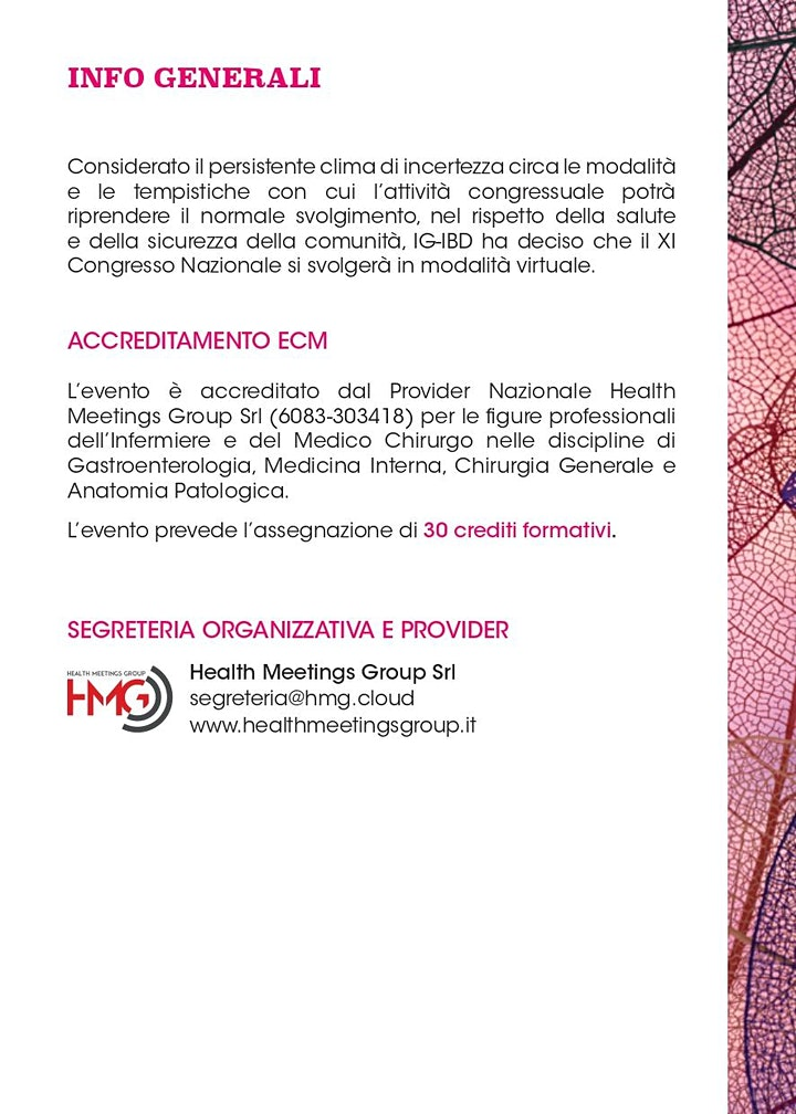 Immagine XI Congresso Nazionale Ig-Ibd - Expanding horizons in IBD