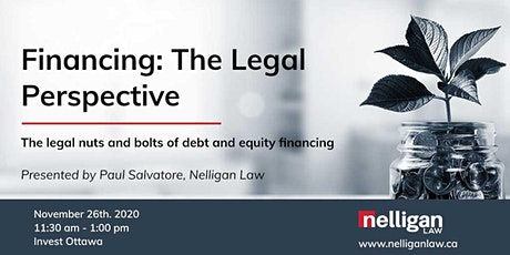 Financing: The Legal Perspective tickets