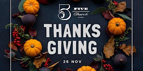 5Church's Thanksgiving Buffet tickets