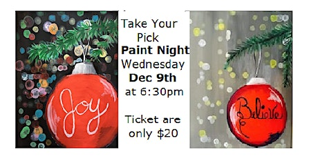 Take Your Pick, Paint Night tickets