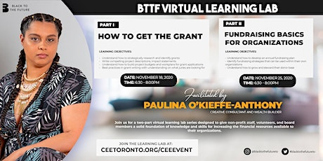 Black to the Future  - Two-Part Virtual Learning Lab Series on Fundraising tickets