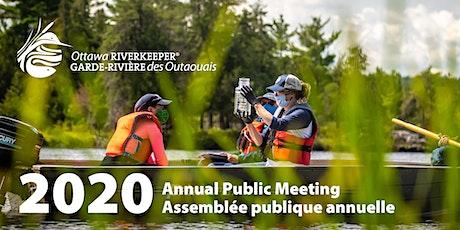 Annual Public Meeting 2020 // Assemblée publique annuelle 2020 billets