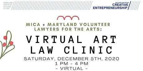 Virtual Art Law Clinic, December 2020! tickets