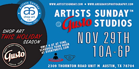 Artists Sunday SHOP ART NOV 29th at Gusto Studios/Greg Davis Photography tickets