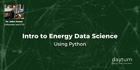 [Virtual workshop] Energy Data Science Using Python (5 half days) entradas