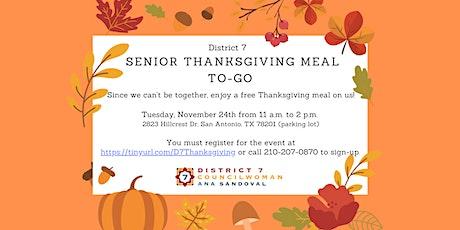 District 7 Senior Thanksgiving Drive-Thru tickets