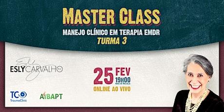 Master Class — Manejo Clínico em Terapia EMDR (em português) bilhetes