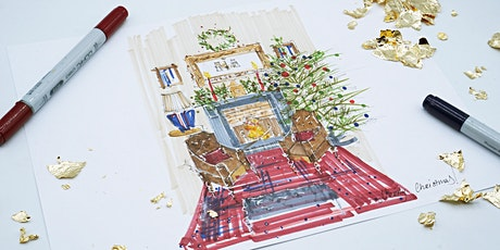 Sketching Christmas Themed Interiors (ONLINE WORKSHOP) tickets