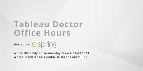 General Tableau Doctor Office Hours tickets