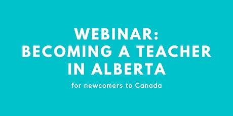 Webinar: Becoming a Teacher in Alberta tickets