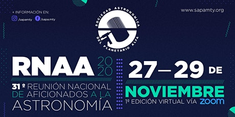 XXXI Reunión Nacional de Aficionados a la Astronomía entradas