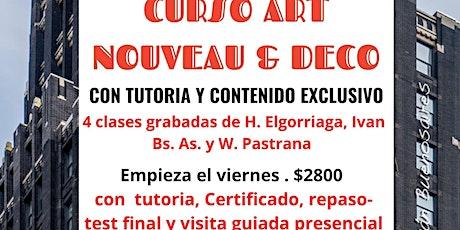 Curso AANBA Art Nouveau y Déco, Argentina y el mundo, turismo y patrimonio