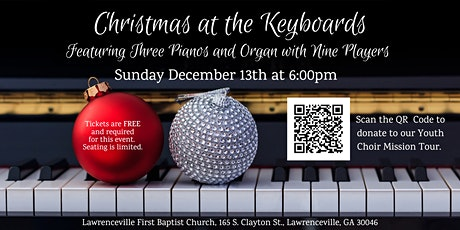 6pm Christmas at the Keyboards tickets