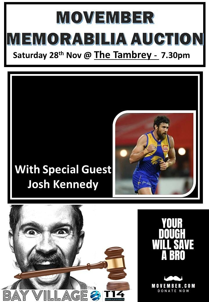 JOSH KENNEDY @ The Tambrey Movember 2020 image