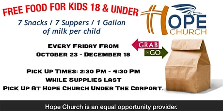 Free Food Kids Ages 3-18 tickets