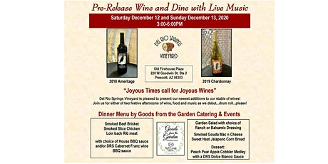 Pre-Release Wine and Dine with Live Music tickets
