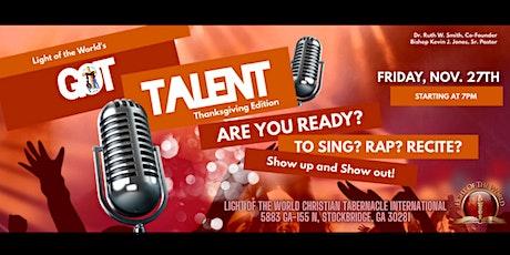 Light of the World's Got Talent: Thanksgiving Edition tickets