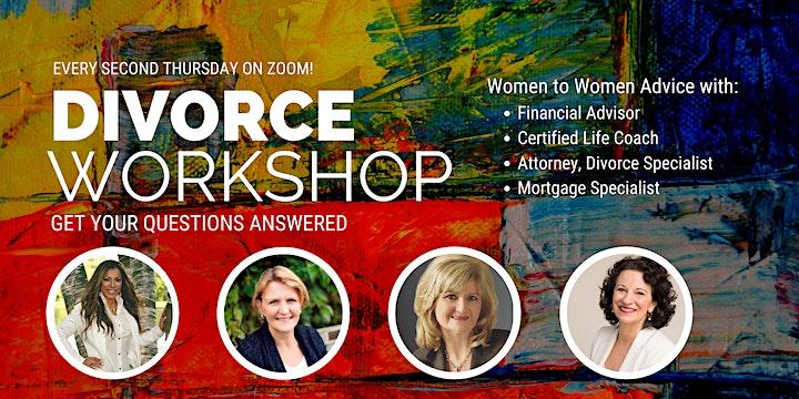 """ONLINE Divorce Workshop - held """"Every 2nd THURSDAY!"""" image"""