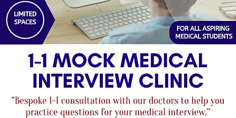 1-1 Mock Medical  Interview Clinic (Virtual) tickets