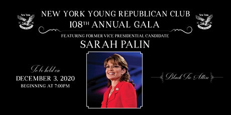 NYYRC 108th Annual Gala with Sarah Palin tickets