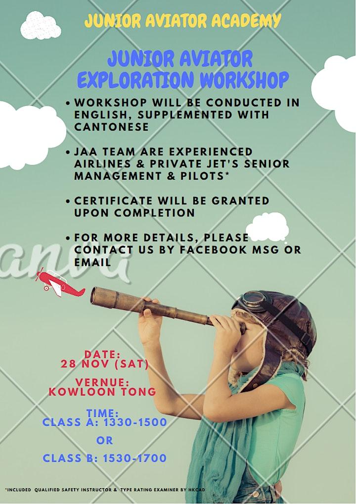 Junior Aviator Exploration Workshop (class B) image