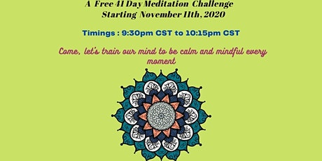 41 day Meditation Challenge tickets