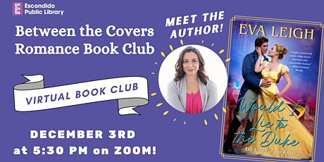 Between the Covers Virtual Romance Book Club & Meet the Author! tickets