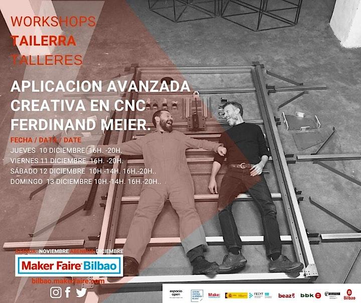 Imagen de Maker Faire Bilbao Conferencia  APLICACIÓN CNC con FERDINAND MEIER