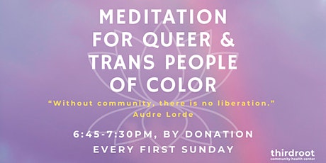 Meditation for QTIPOC every first Sunday tickets