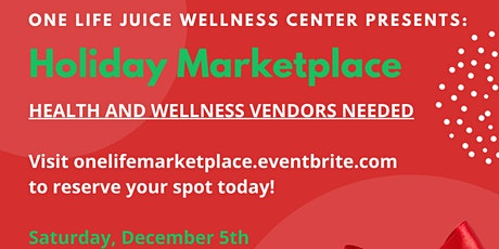 One Life Holiday Marketplace tickets