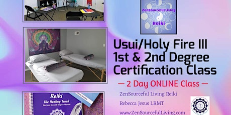 Usui/Holy Fire Reiki 1st & 2nd Degree Certification ONLINE 2 DAY CLASS tickets