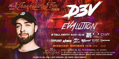F#CK 2020 Thanksgiving eve with D3V & friends  2 rooms 9pm-6am tickets