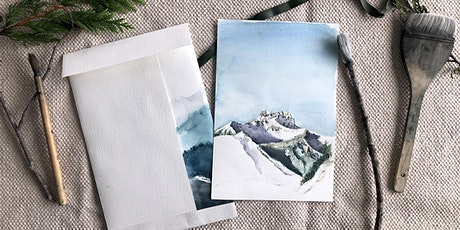 Holiday Virtual Painting Class: Winter Mountains in Watercolour! tickets