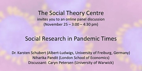 Social Research in Pandemic Times (The Uses of Social Theory) tickets