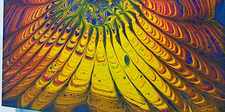 Fluid Art Experience - Pouring using Strainers and Objects (Paint and Sip) tickets