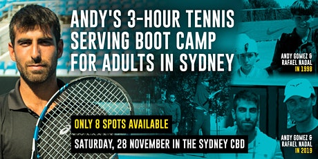 Andy's 3-hour Tennis Serving Boot Camp For Adults tickets