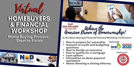 Virtual HUD Approved Homebuyers & Financial Workshop tickets