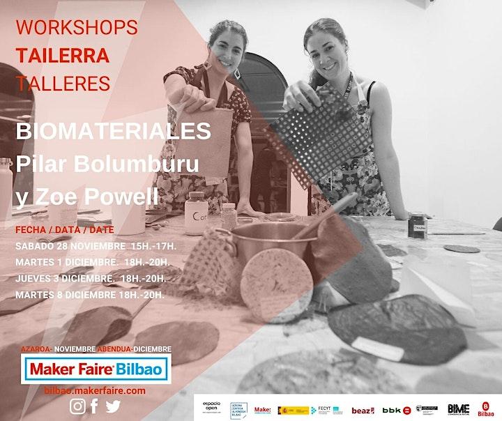 Imagen de Maker Faire Bilbao. Conferencia  BIOMATERIALES con MATERIOM