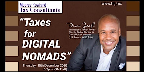 (WEBINAR) Taxes for Digital Nomads. tickets