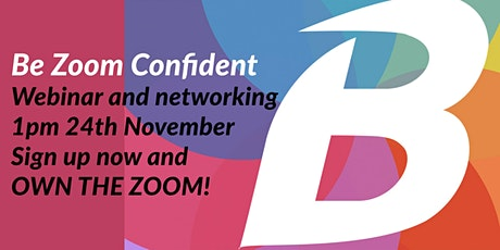 Be Zoom Confident workshop and networking tickets