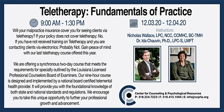 TeleTherapy:  Fundamentals of Practice tickets