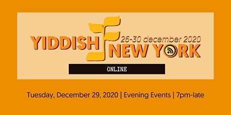 Yiddish New York - Evening Pass - Tuesday tickets