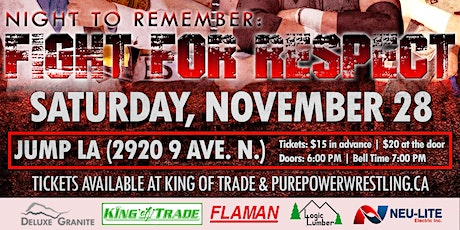 PPW Night to Remember: FIGHT FOR RESPECT tickets